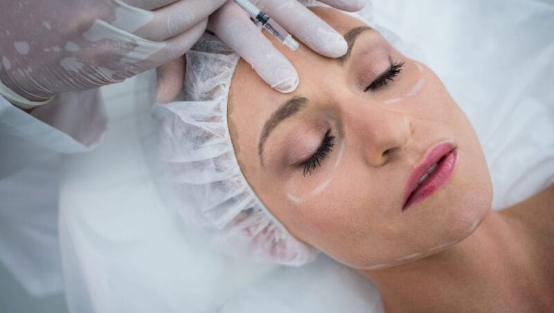 botox injection at clinic